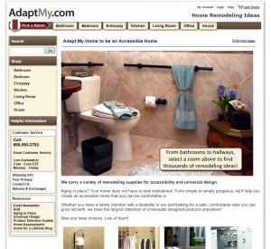 Adaptmy.com Home Page