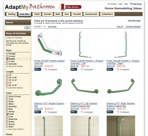 AdaptMy.com Filtered Second Level Category View