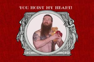 Hoist Valentine (4x6 Postcard)